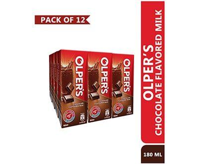 OLPER'S Chocolate Flavored Milk 180ml Pack of 12